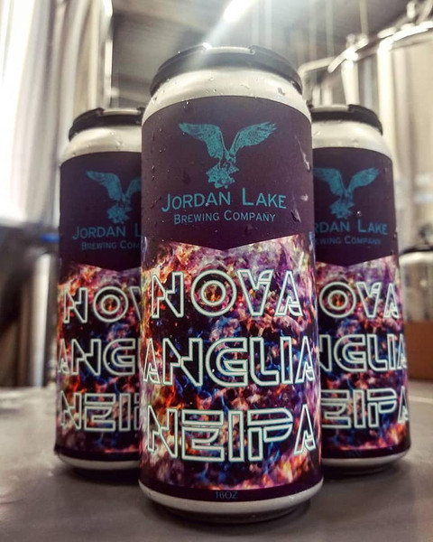 Packaging for Nova Anglia NEIPA - Jordan Lake Brewing Co.