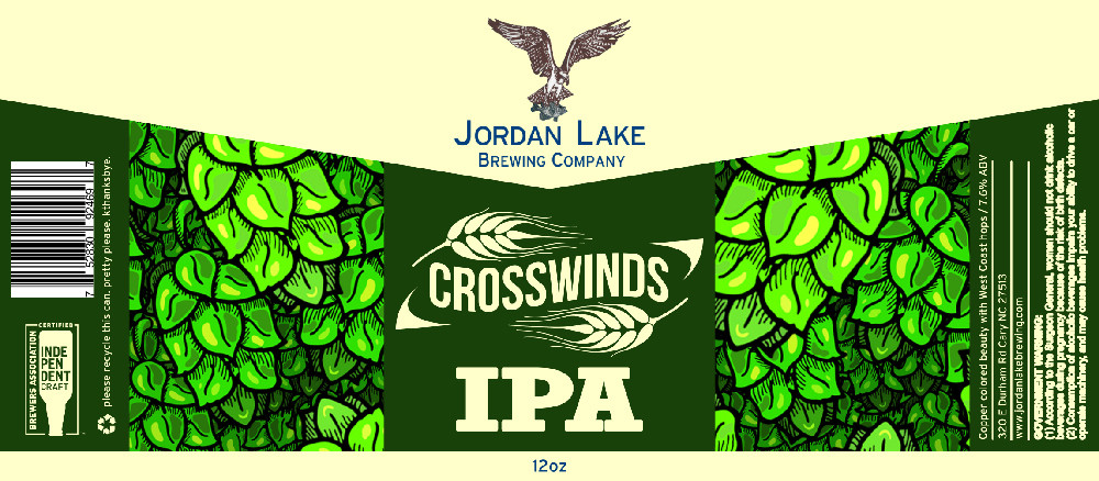 Crosswinds IPA - Jordan Lake Brewing Co.