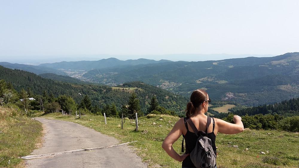 Vue sur Orbey et la plaine d'Alsace