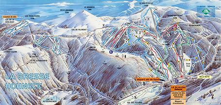Plan des pistes à La Bresse