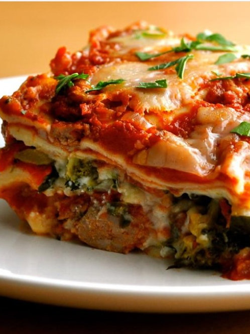 Roasted Vegetable Spinach Lasagna