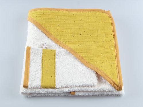 Cape de bain-gant de toilette