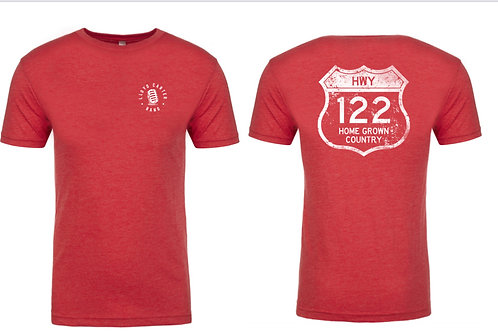 Red HWY 122 Home Grown Country T-shirt