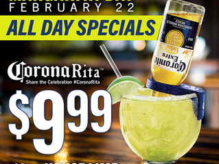 National Margarita Day - Saturday, February 22