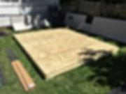 Shed Platform Installation