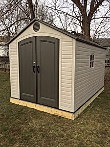 Lifetime Shed Installation