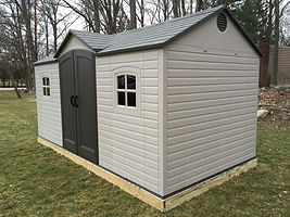 Lifetime 15x8 ft Shed Installation