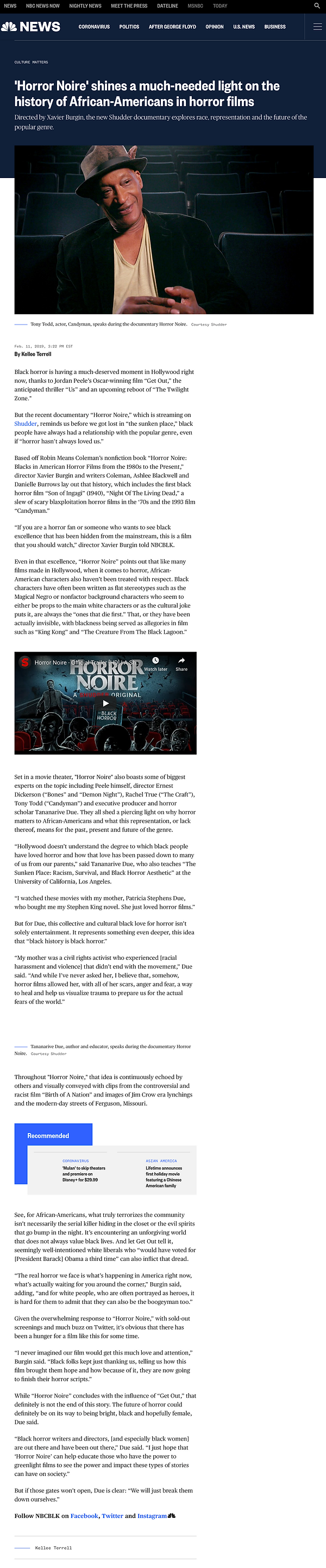 'Horror Noire' shines a much-needed ligh