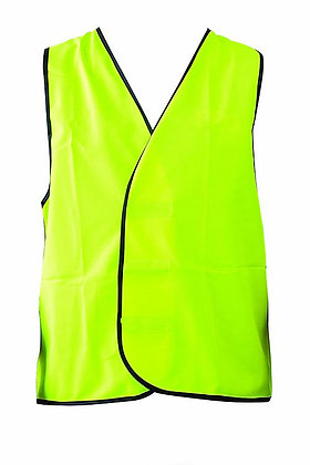 Fluoro Yellow Hi-Vis Non Reflective Safety Vest