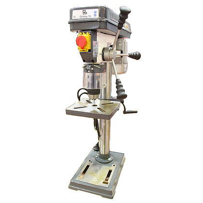 Front view of 12 speed bench drill press