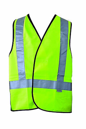 Fluoro Yellow Hi-Vis Reflective Safety Vest, H-Back