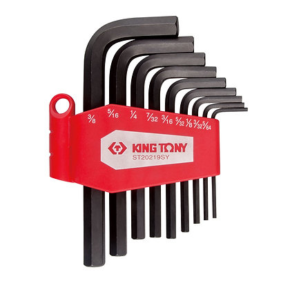 Hex Key Sets, Imperial, 9 Piece