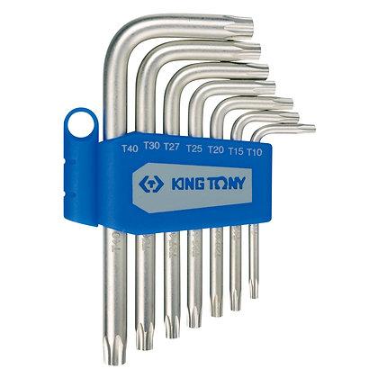 Top view king tony 7 piece allen key set