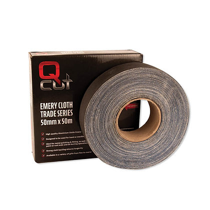 A qcut emery cloth with box packaging