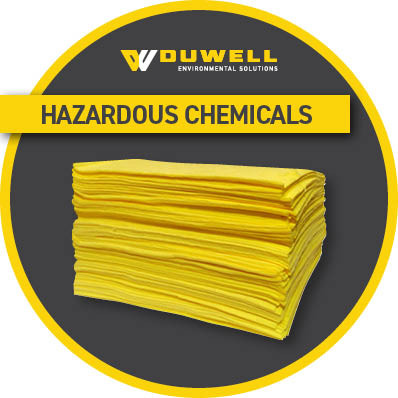 hazardous chemical absorbent pad