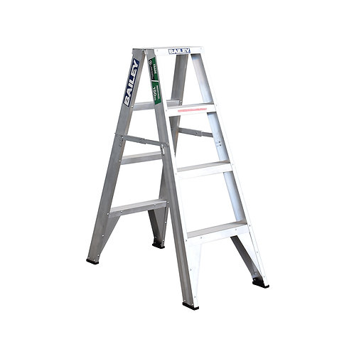 Aluminium Double Sided 4 Step Ladder 1.2m 150kg