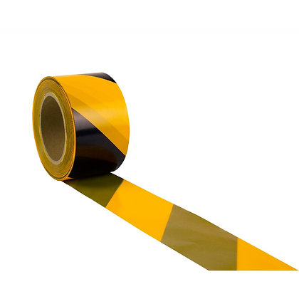 Duwell Yellow and black striped safety tape