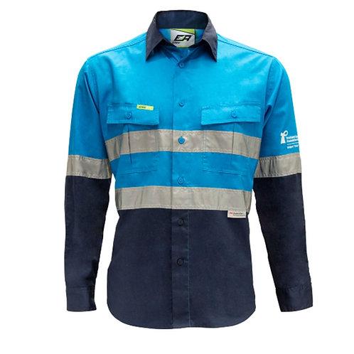 Hi-Vis Taped Work Shirt - Lightweight, PCFA