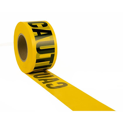 Tape - Caution, Yellow/Black