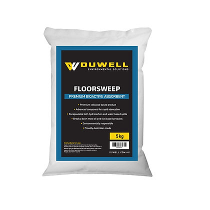 Front view of 5kg bag of Duwell floors weep
