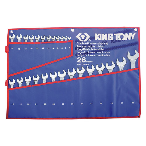 Combination Spanner Set Open & Ring 6 - 32mm 26 Piece
