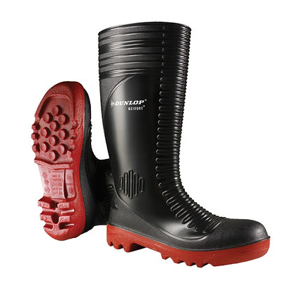 Dunlop Industrial Acifort Ribbed Gumboot with Steel Toe