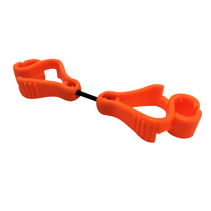 side view orange glove clip