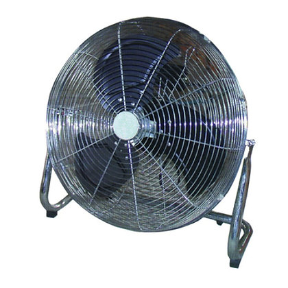 front view of stainless steel floor fan