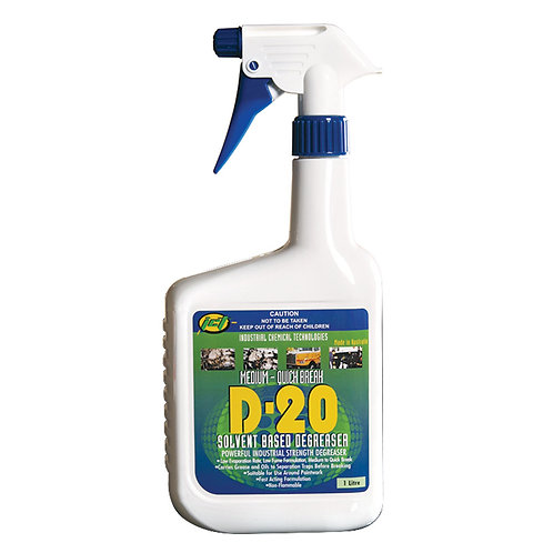 Solvent Degreaser D-20 Spray 1L