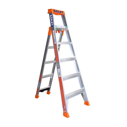 Aluminium 3 In 1 Ladder SLS Industrial 6 Step 150kg