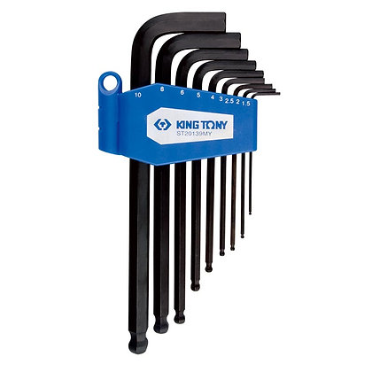 Ball Hex Key Sets, Long, Metric, 9 Piece