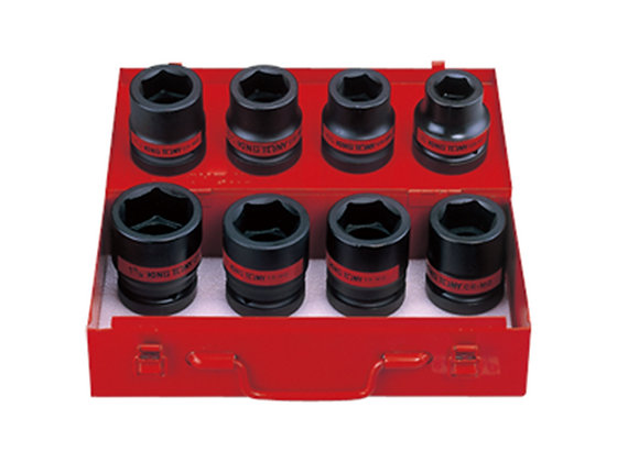 "Impact Socket Sets, 1"" Drive, Imperial, 8 Piece"