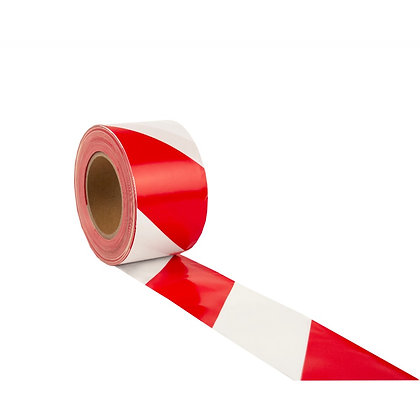 Duwell Red and White Safety Tape