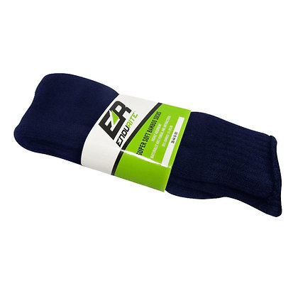 Side view pair of navy bamboo socks