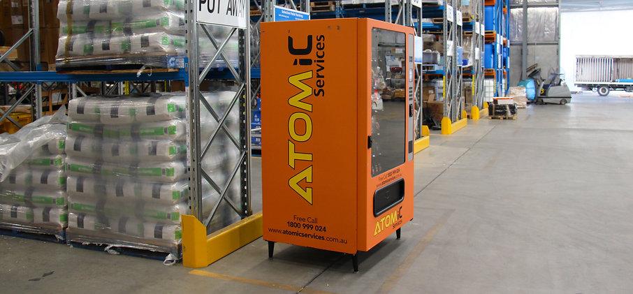 Vending Machine in Warehouse