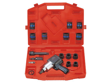 Top view Pneumatic Impact Wrench Kit Metric