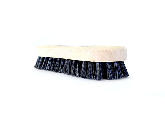 side view of wooden scrubbing brush