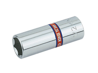 """Chrome Socket, Deep - 1/4"""" Drive, 12 Point, Imperial"""