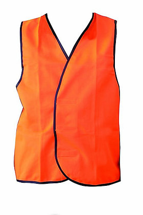 Fluoro Orange Hi-Vis Non Reflective Safety Vest