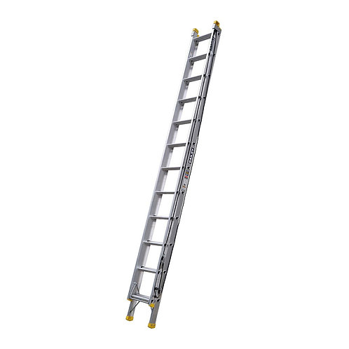 Pro Industrial Aluminium Extension Ladder With Punchlock 12 Steps 150kg 3.7m