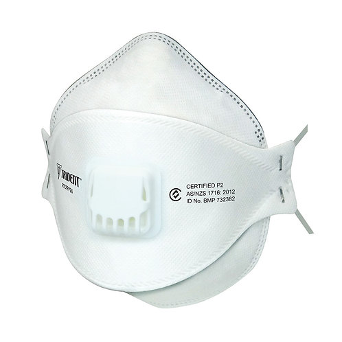 Trident™ Disposable P2 Respirator Flat Fold Valved 20 Pack