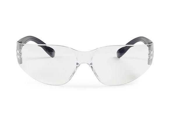 front view clear safety glasses