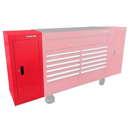side view red side locker shelf