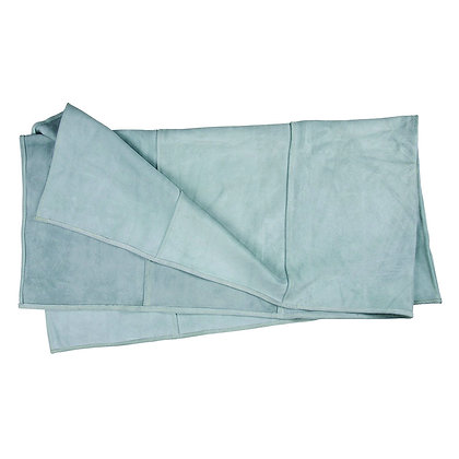 top view leather welding blanket