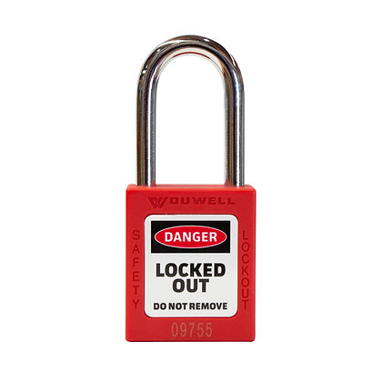 Lockout Safety Padlock - 3 Pack