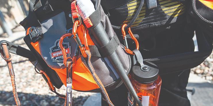 Ergodyne tool lanyard and backpack