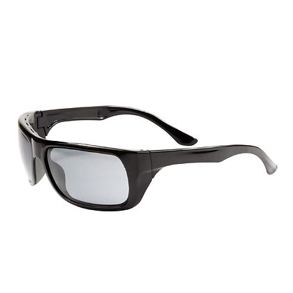 side view smoke polarised safety glasses