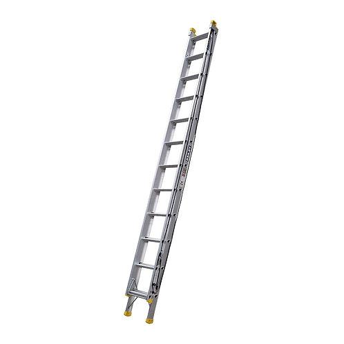 Aluminium Pro Industrial Punchlock Extension Ladder 12 3.7m 150kg