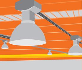 LED Warehouse Lightin Illustration