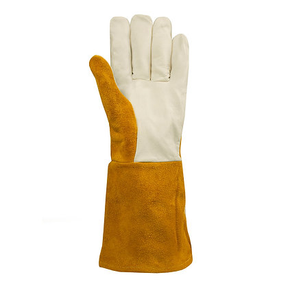front view leather welding gloves